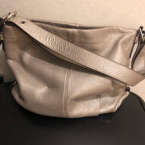 Silver/Metallic COACH Bag